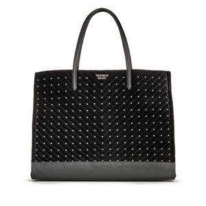 NWT Victoria's Secret Velvet Studded Tote Bag